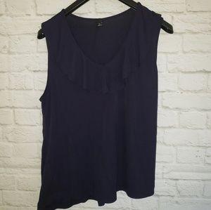 Ann Taylor Sleeveless Blouse Size XLARGE
